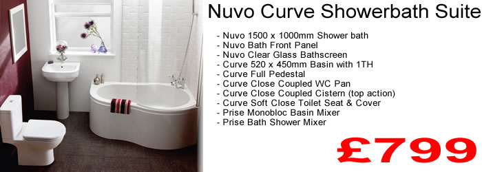 Complete balterley nuvo curve showerbath suite for H s bathrooms blackburn