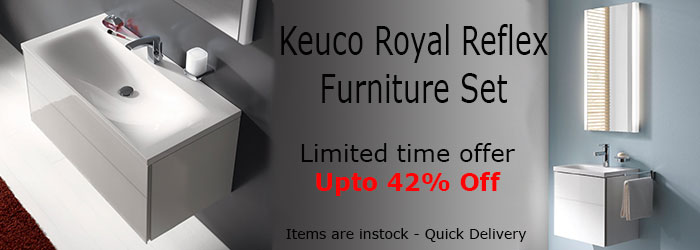 Upto 42% Off on Keuco Royal Reflex Furniture Set with or without Mirror or Cabinet. All stock items