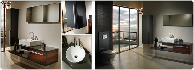 Utopia Bathroom Furniture with Solid Doors and Soft Closing Feature.