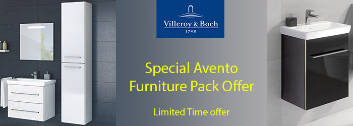 V&B Avento Furniture Pack offer including side unit and tall cabinet. Quick delivery
