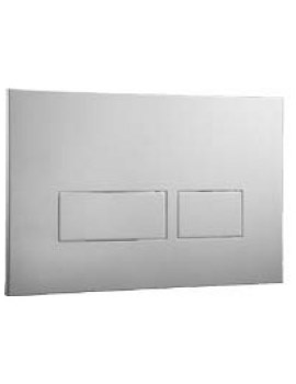 Abacus Easi-Plan Trend 2 Dual Flush Plate - Satin  By Abacus
