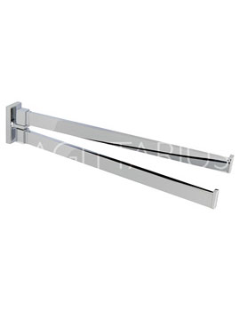 Sagittarius Madison Hinged Double Towel Rail  By Sagittarius