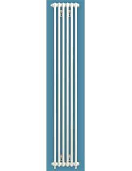 Bisque Chrome Classic Vertial Radiator - White Finish By Bisque Radiators