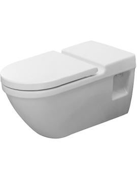 Duravit Starck 3 Wall Mounted WC Pan with Extended Hinge Shaft  By Duravit