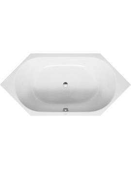 Duravit D-Code Hexagon Bathtub Incl.Support Frame  By Duravit