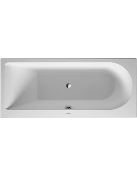 Duravit Darling New Bathtub with One Backrest Slope Left 120Litre  By Duravit
