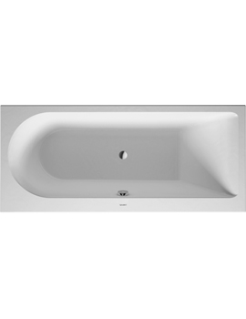 Duravit Darling New Bathtub with One Backrest Slope Right 120Litre  By Duravit