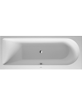 Duravit Darling New Bathtub with One Backrest Slope Left 135Litre  By Duravit