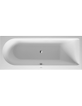 Duravit Darling New Bathtub with One Backrest Slope Right 135Litre  By Duravit
