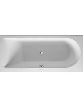 Duravit Darling New Bathtub with One Backrest Slope Left 160Litre  By Duravit