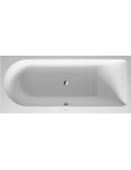 Duravit Darling New Bathtub with One Backrest Slope Right 160Litre  By Duravit