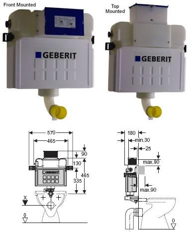 Geberit concealed cistern concealed cisterns and flush for Cisterna geberit