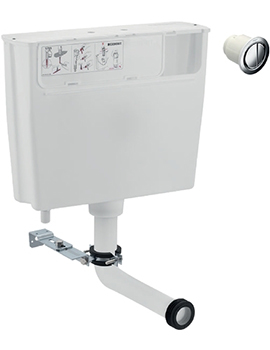 Geberit Low Height Concealed Dual Flush Cistern With Flush Button By Geberit