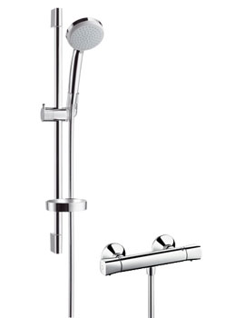 croma 100 showers from hansgrohe shower pack. Black Bedroom Furniture Sets. Home Design Ideas