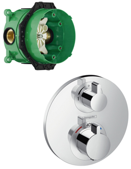 Merveilleux Hansgrohe Ecostat S Thermostatic Mixer With Shut Off And Diverter Valve And  IBox