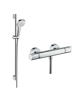 Hansgrohe Soft Cube Croma Select rail kit with valve - 88101035  By Hansgrohe