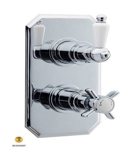 Home of Ultra Beaumont Traditional Twin Concealed Thermostatic Valve  By Home of Ultra