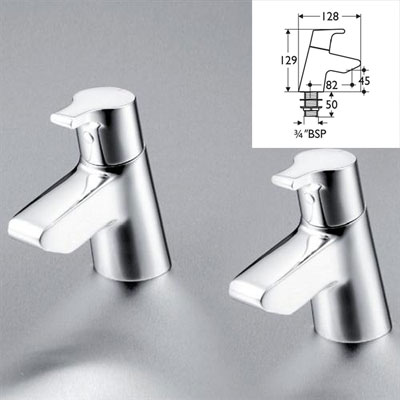 Ideal Standard Active Basin Piller Taps By Ideal Standard