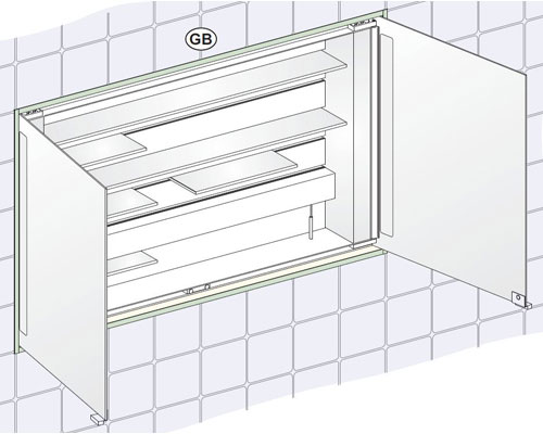 Bathroom Cabinets Keuco keuco royal integral 1200mm mirror cabinet