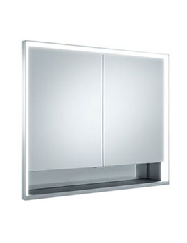 keuco royal lumos recessed mirror cabinet 1000mm 14314. Black Bedroom Furniture Sets. Home Design Ideas