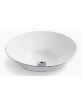 Kohler Conical Bell Vessel Basin With Glazed Underside - 2200-G-0  By Kohler