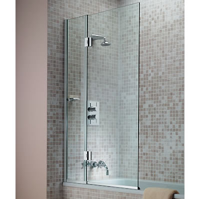 Shower Screen Over Bath matki eleganza hinged bath screen - lcb900