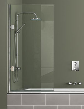 Shower Screen Over Bath matki eleganza single bath screen