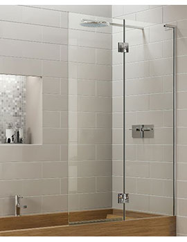 Matki EauZone Plus Double Panel Bath Screen Inwards Opening   EPD