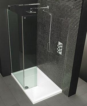 Merlyn Cube 2 Walk-In Glass Option 2 By Merlyn