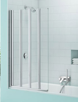 Merlyn SecureSeal 4 Fold Bath Screen  By Merlyn