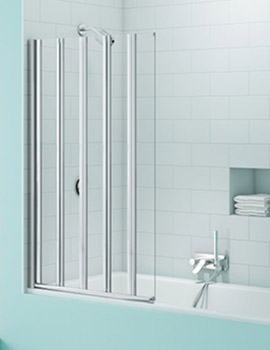 Merlyn SecureSeal 5 Fold Bath Screen  By Merlyn