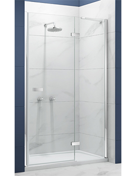 Merlyn Essence Frameless Hinge and Inline Panel in a Recess  By Merlyn