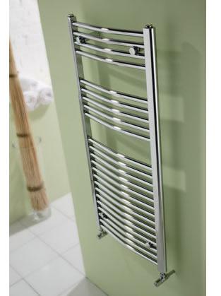 MHS Space Bow - Chrome Bathroom Radiator By MHS