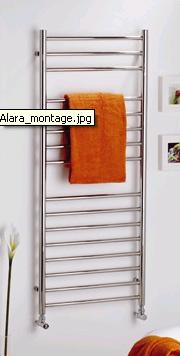 MHS Alara Curved Polished Bathroom Radiators By MHS