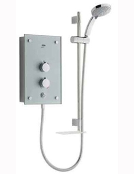 Mira Galena 9.8kW Silver Glass Electric Shower By Mira Showers