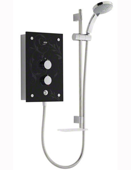 Mira Galena 9.8kW Black Flock Electric Shower By Mira Showers