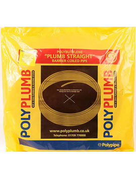Polypipe Polyplumb Ultra Flexible Underfloor Heating Barrier Pipe Coil 12mm x 80m  By Polypipe