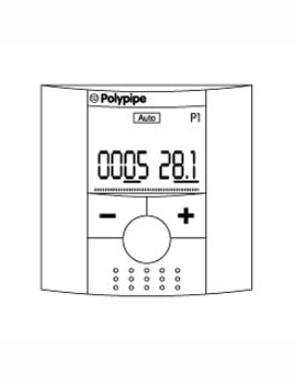 Polypipe Programmable Room Thermostat RF  By Polypipe
