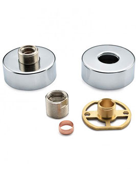 Sheths Exposed Shower Bar Valve Install Kit With Round Shrouds  By Sheths