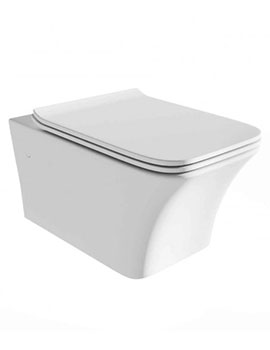 Sheths Eiffel Wall Hung Toilet with Soft Close Seat  By Sheths