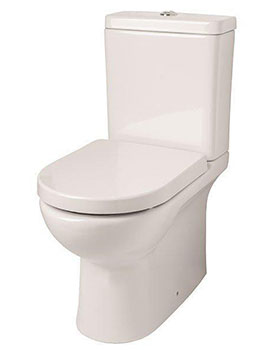Sheths Tria Rimless Close Couple Toilet Complete with Soft Close Seat  By Sheths