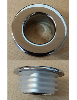 Sheths 19mm Hole For Basin Overflow Cover - Chrome  By Sheths