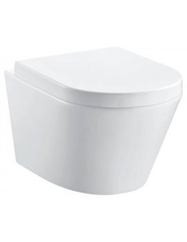 Sheths Pura Arco Rimless 470mm Projection Wall Hung WC Pan  By Sheths