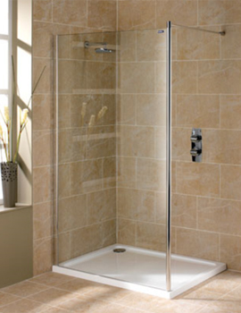 showerlux urban chic flat wet room panel with wall support