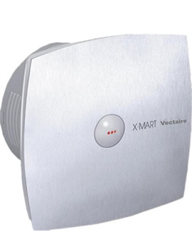 Vectaire X-Mart Auto Extractor Fan 10cm in Stainless Steel  By Vectaire