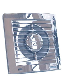 Vectaire AS Plus Slimline Axial Extractor Fan (Chrome) By Vectaire