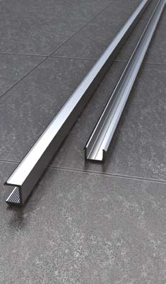 Vessini X Series Recessed Channel for Upto 10mm Glass By Vessini