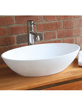 Waters Elements Ellipse Stone Basin 550mm Countertop  By Waters