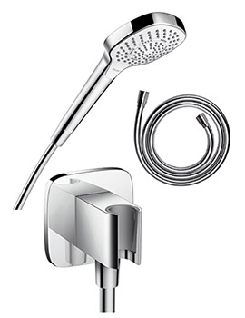 Berühmt Hansgrohe Croma Select E Multi hand shower Set with Outlet Holder NT88