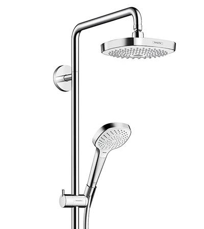 Hervorragend Hansgrohe Croma Select E 180 2jet Showerpipe TS53